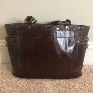 Authentic Coach Purse Mahogany Patent Leather